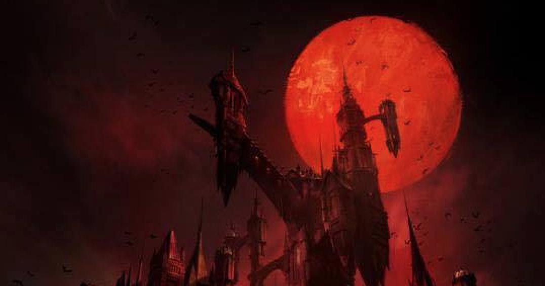 Parte del póster de la serie de Castlevania para Netflix