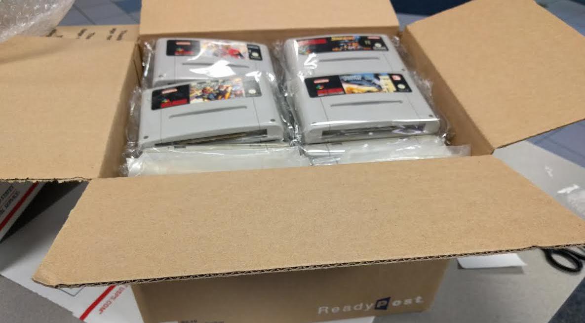 Paquete con juegos de SNES del archivador Byuu