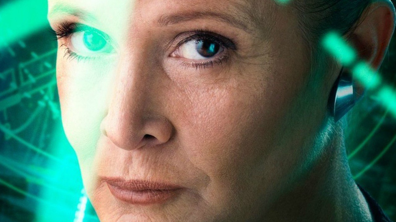 Carrie Fisher como la General Organa en Star Wars VII: El despertar de la Fuerza