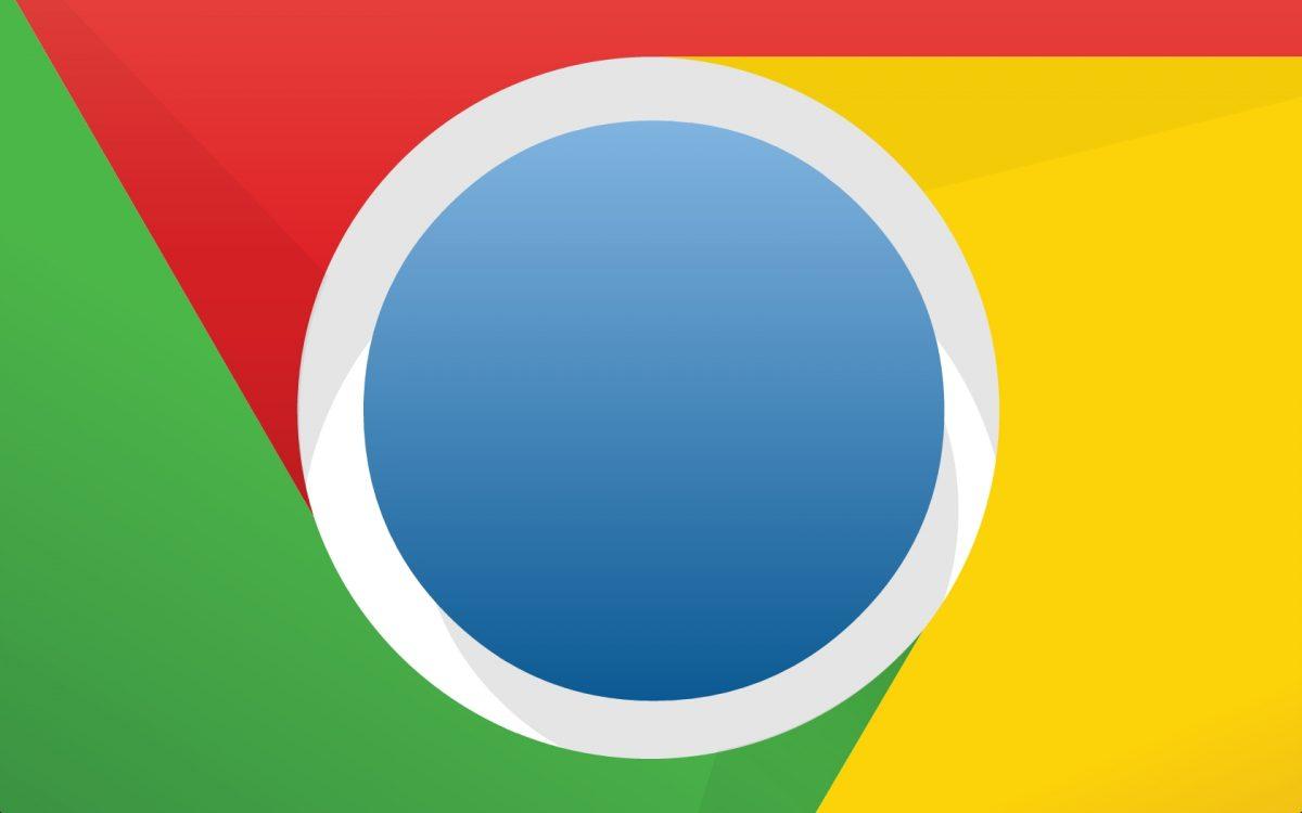Acercamiento al logo del navegador Chrome de Google