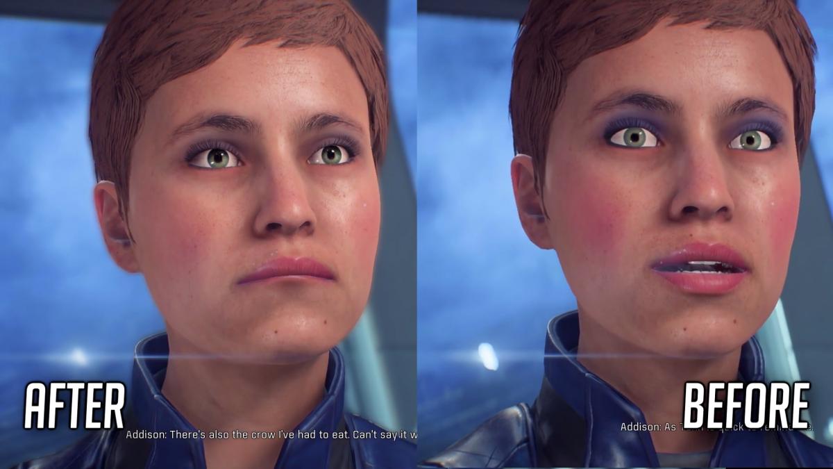 Mejoras en la animación facial en Mass Effect: Andromeda después del parche 1.05