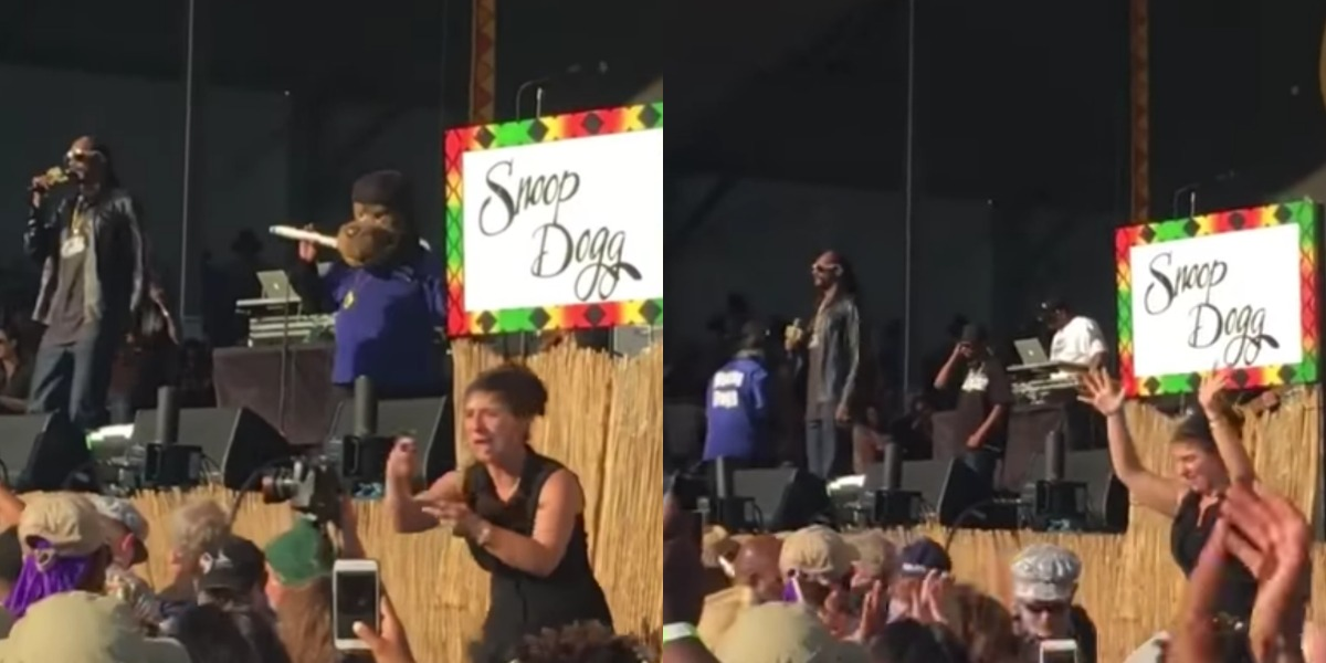 La intérprete de lenguaje de sordos se robó el show de Snoop Dogg