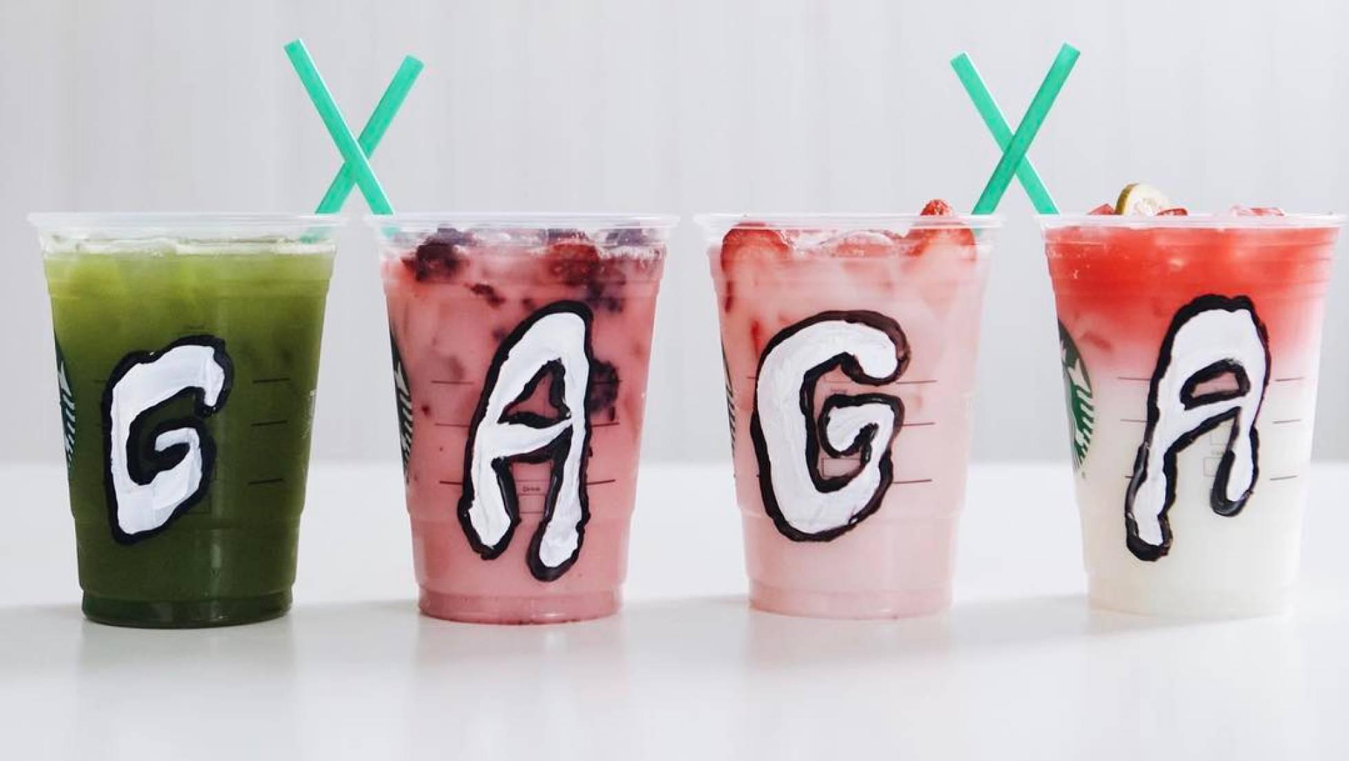 Starbucks y Lady Gaga lanzan bebidas coloridas para recaudar fondos