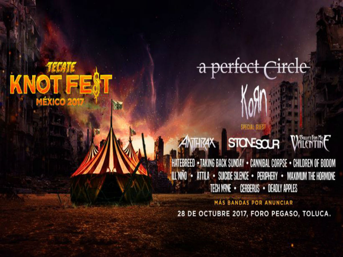 Knotfest 2017 traerá a A Perfect Circle a México