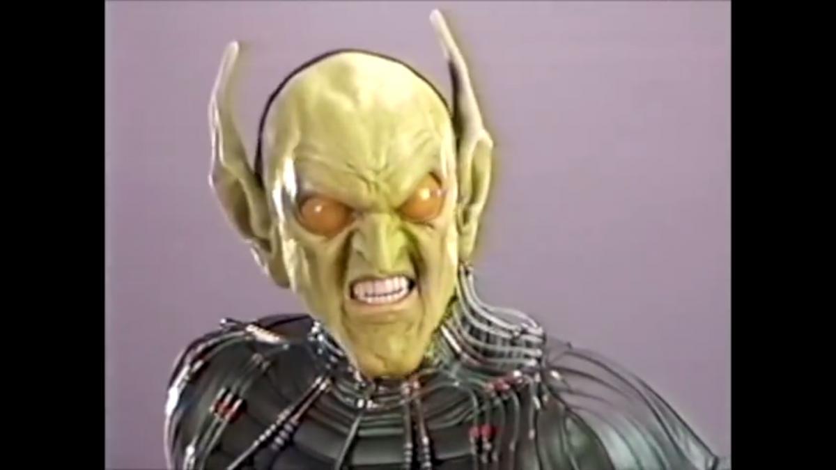 La máscara original del Duende Verde en Spider-Man de Sam Raimi