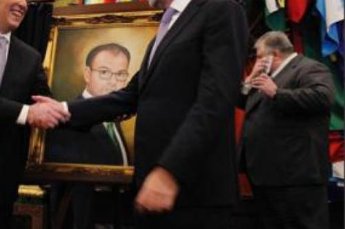 Cuadro de Videgaray, José Antonio Meade, Luis Videgaray, Retrato, Óleo, Cuadro