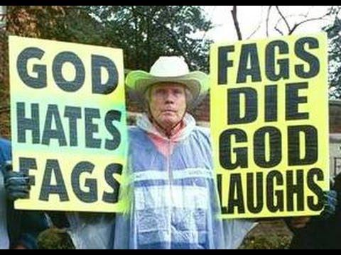 Carteles de protesta homofóbicos de la Iglesia Bautista de Westboro