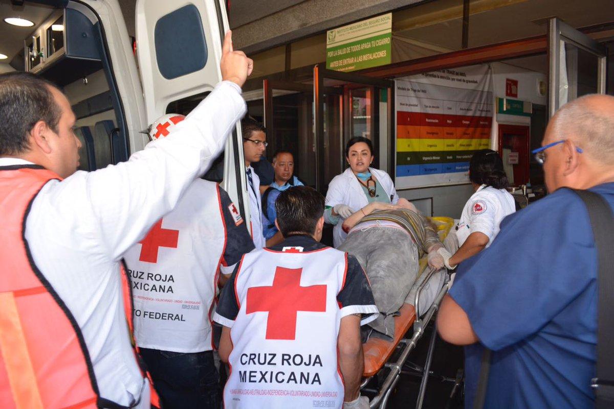Rescatistas Cruz Roja en la CDMX, temblor del 19 de septiembre