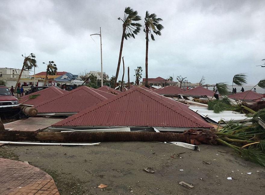 Casas devastadas por el huracán Irma
