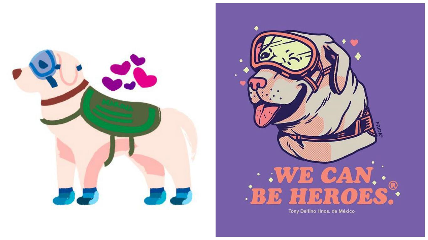 Las ilustraciones más chidas de la perrita Frida