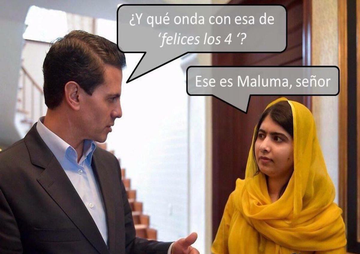 Malala reunió con Peña Nieto memes explotan