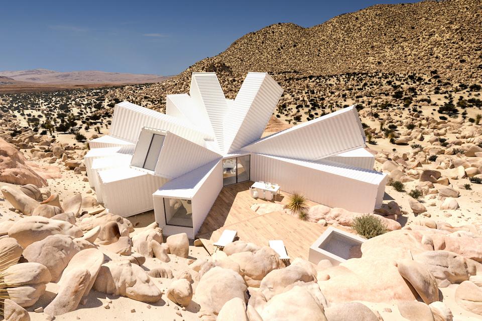 ¡Increíble! Crearán una casa con contenedores en medio del desierto