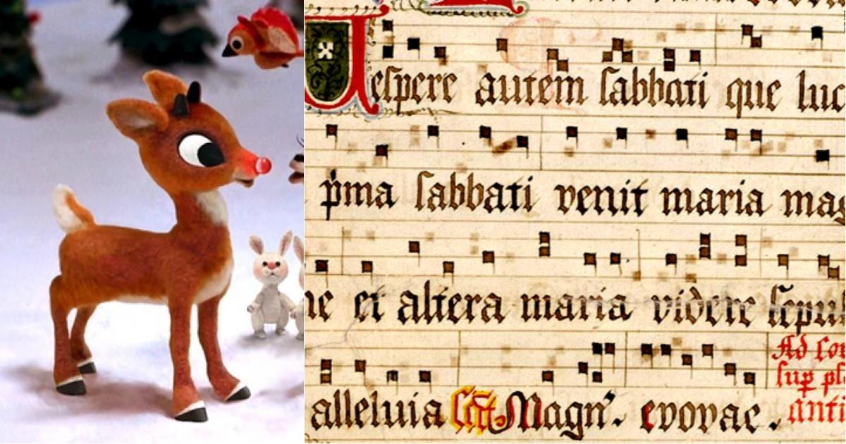 Rodolfo el Reno interpretado como canto gregoriano