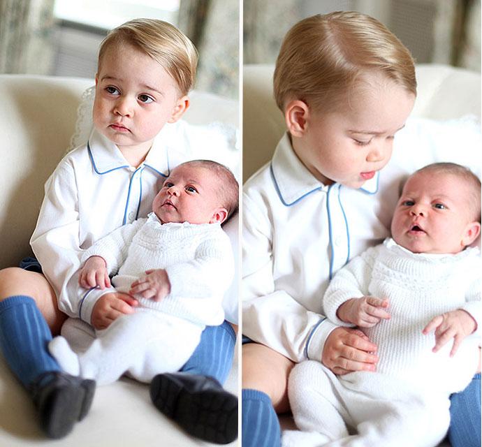 El príncipe Jorge y la princesa Carlota bebé