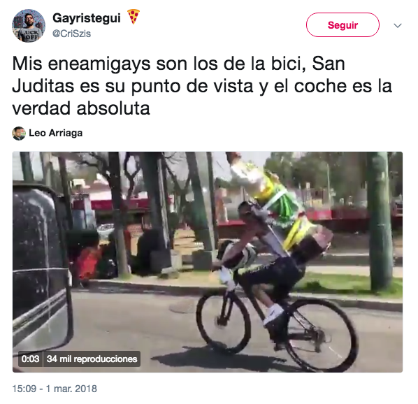 En Twitter se burlan del accidente de San Judas en bicicleta