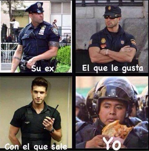 Chico guapo de la guardia civil española