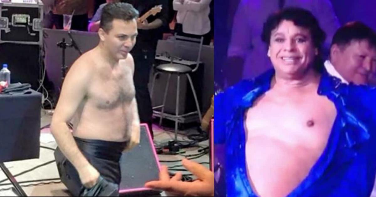 Cristian Castro se quita la camisa en concierto