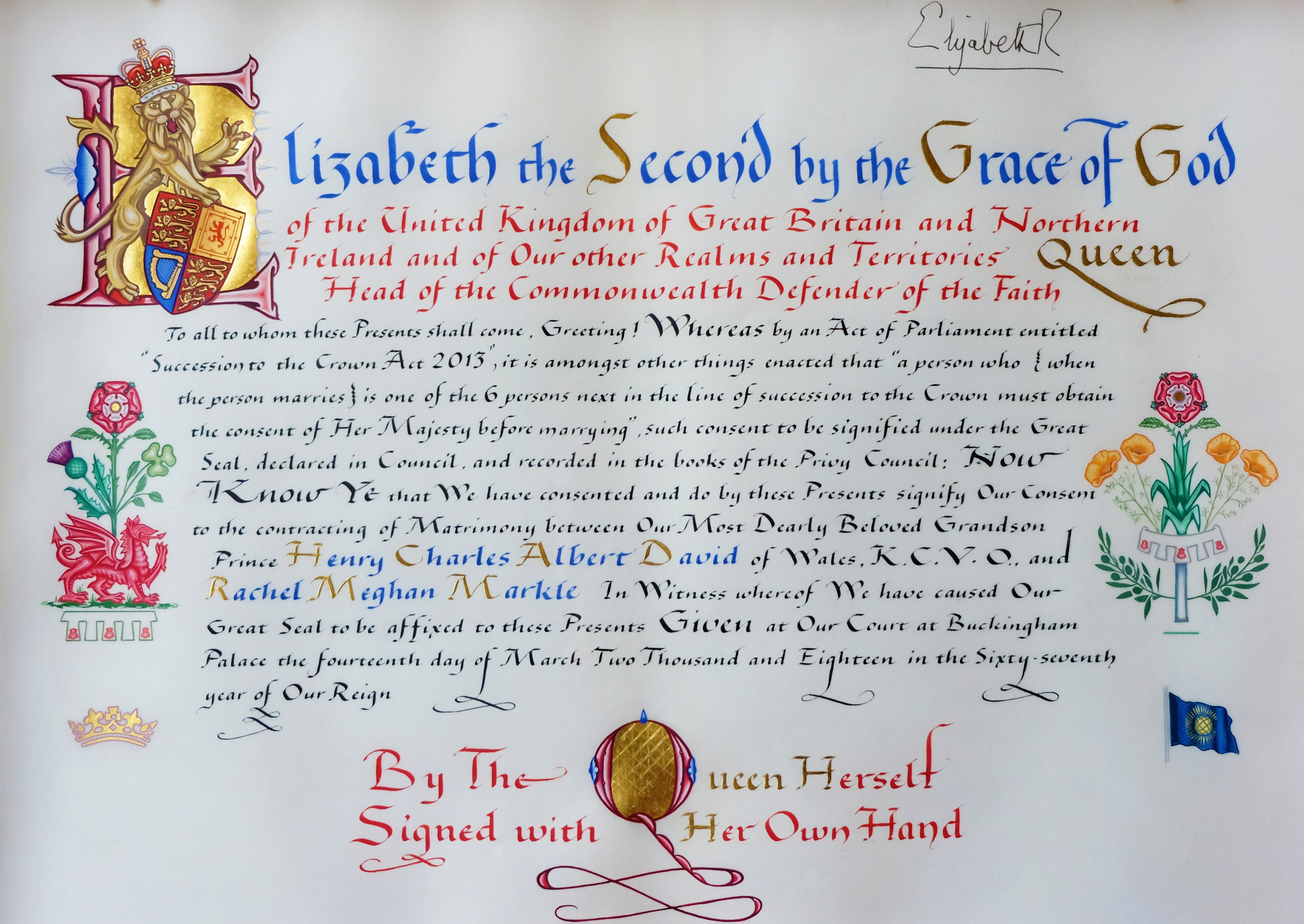 Reina-Isabel-II-consentimiento-boda-harry-meghan