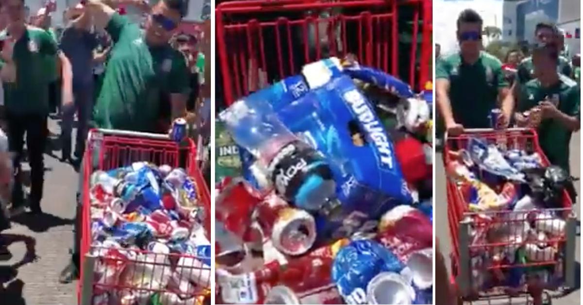 video-facebook-aficionados-mexicanos-ponen-ejemplo-tiran-basura