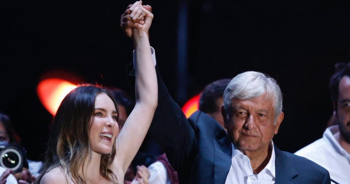 Belinda defiende gestión de Andrés Manuel López Obrador