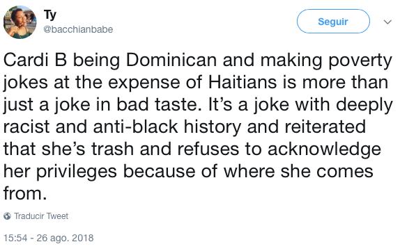 Cardi B hace broma racista sobre mexicanos