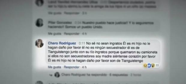 Madre vio en facebook live el linchamiento de su hijo