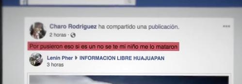 Madre vio cómo asesinaban a su hijo en Facebook Live