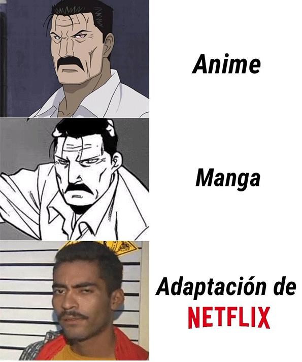 Memes porque no nos gustan las adaptaciones de Netflix