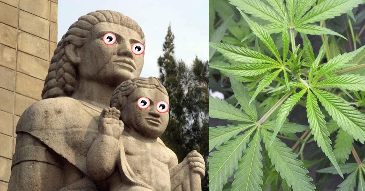Encuentran otra marihuana en el Monumento a la Madre
