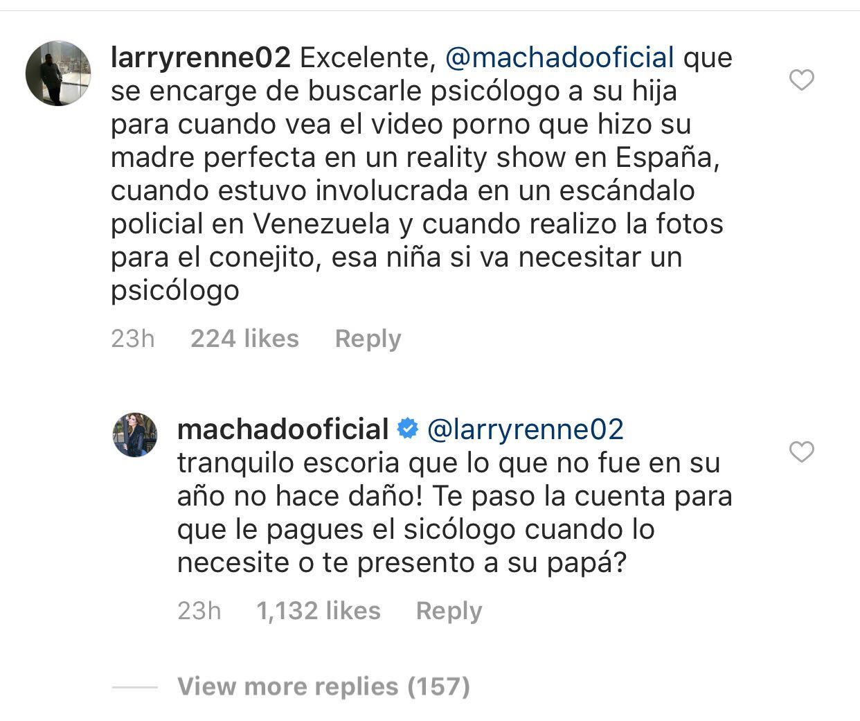 Alicia Machado llama escoria usuario Instagram