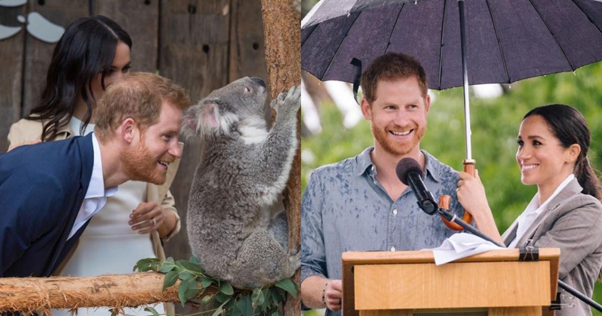 Meghan Markle Gesto Principe Harry, Meghan Markle Cubre Al Principe De La Lluvia, Duques De Sussex, Principe Harry, Meghan Markle, Lluvia