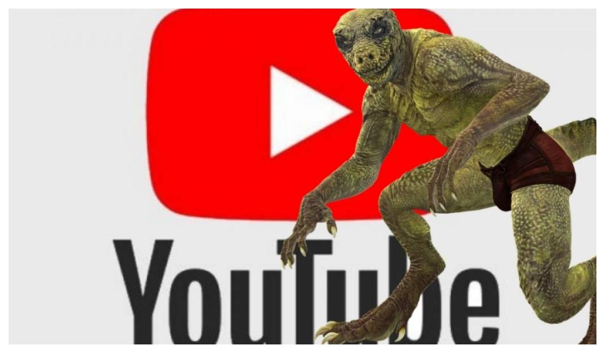 Conoce al reptiliano que tiró YouTube