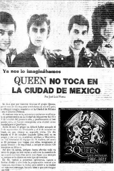 El día que México abucheó a Queen y decidieron no regresar