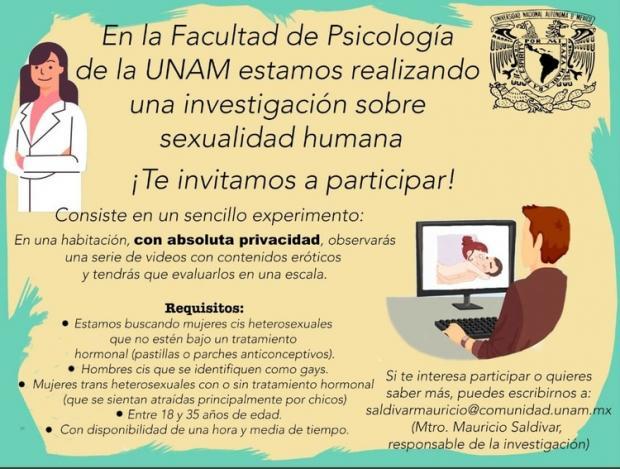 UNAM busca voluntarios para ver porno por la ciencia