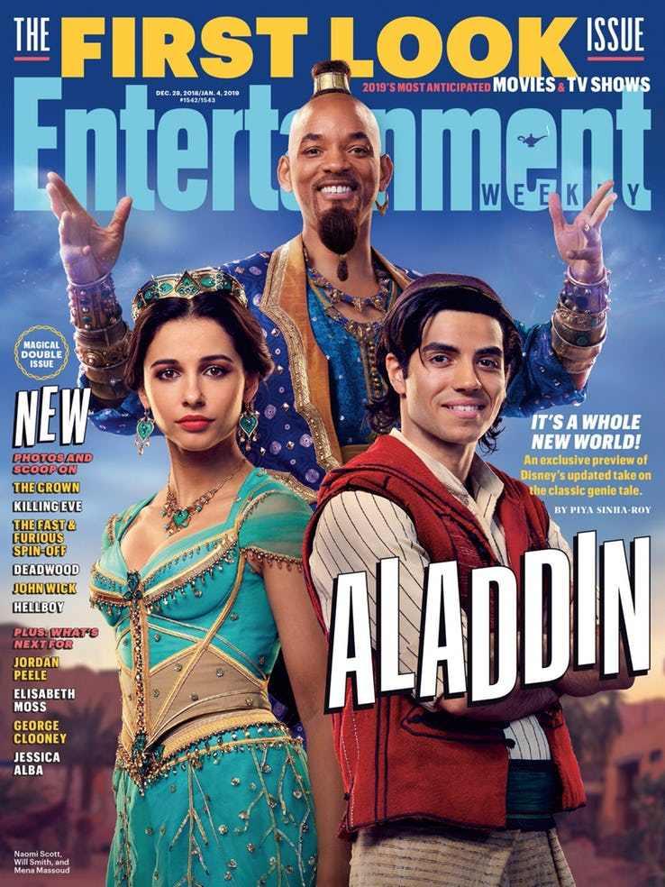 Revelan primeras imágenes de Will Smith como Genio de Aladdín