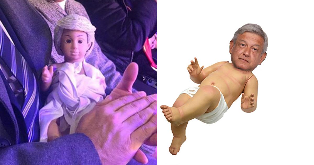 AMLO Niño Dios Nacimiento, AMLO Nacimiento Navideño, AMLO, Niño Dios AMLO, Martí Batres, Alejandro Solalinde