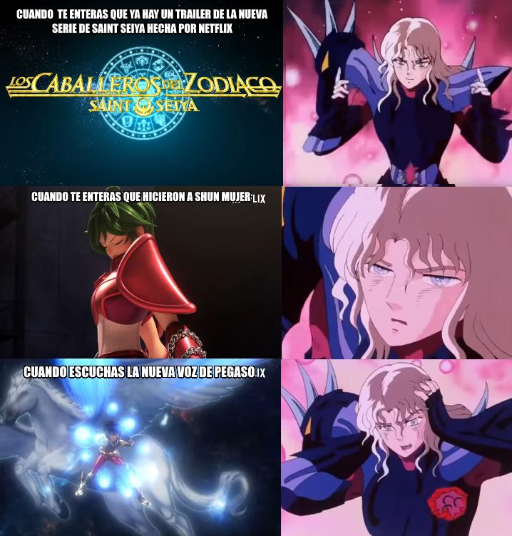 Shun de los Caballeros del Zodiaco es mujer y ya hay memes