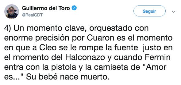 Guillermo del Toro analizó el trabajo de Cuarón en Roma