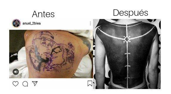 Memes del tatuaje de Anuel AA con Karol G