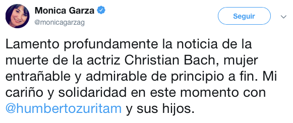 Así se despidieron los famosos de Christian Bach