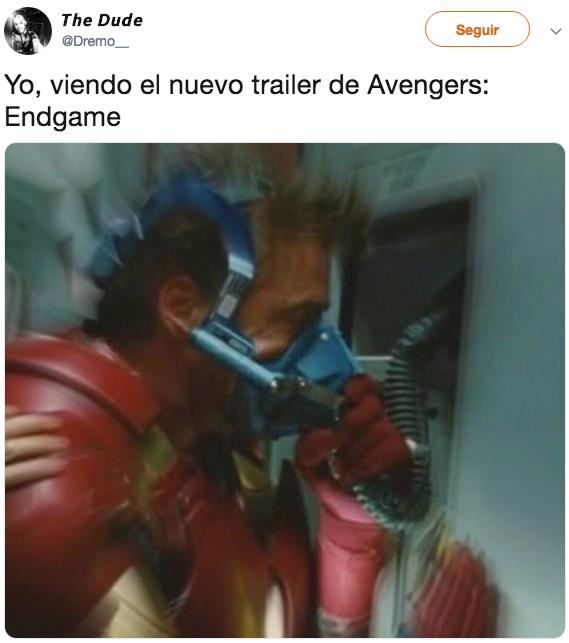 Los mejores memes del trailer de Avengers Endgame