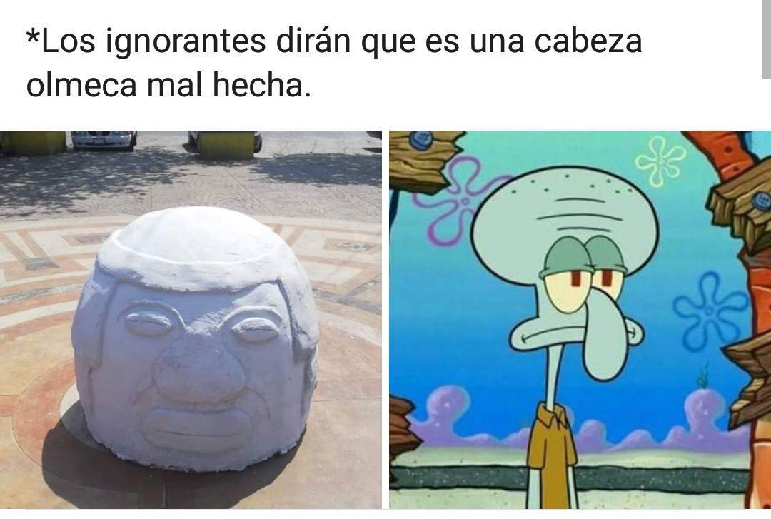 cabeza olmeca santiago tuxtla memes