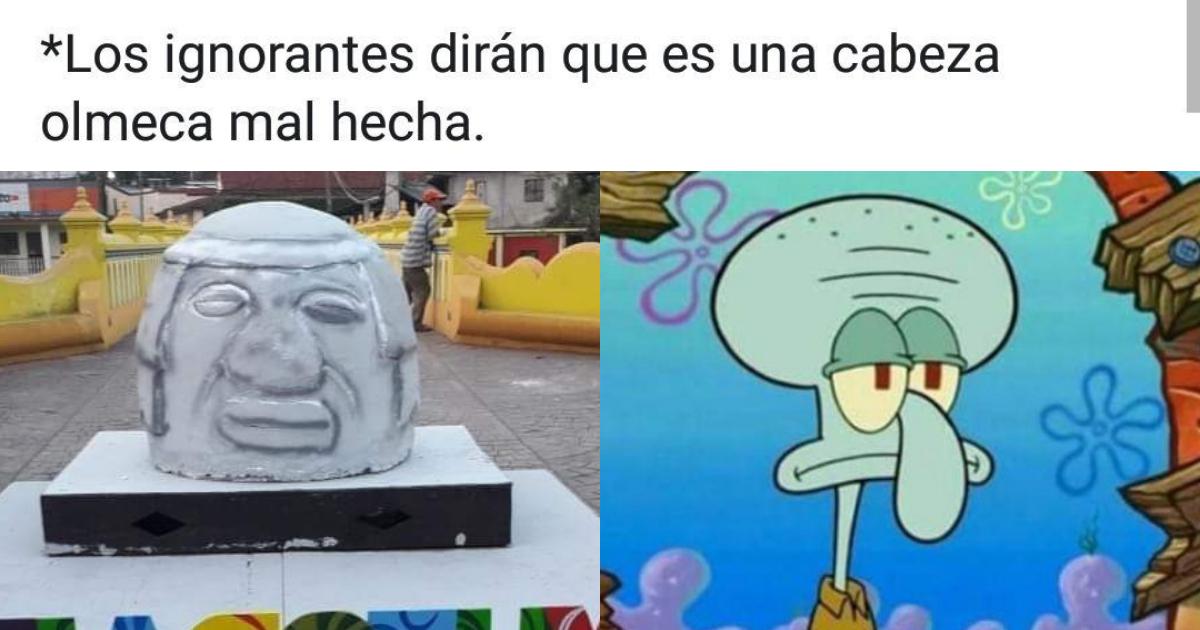 Memes Réplica De La Cabeza Olmeca En Santiago Tuxtla, Memes Cabeza Olmeca, Cabeza Olmeca, Réplica, Memes, Santiago Tuxtla