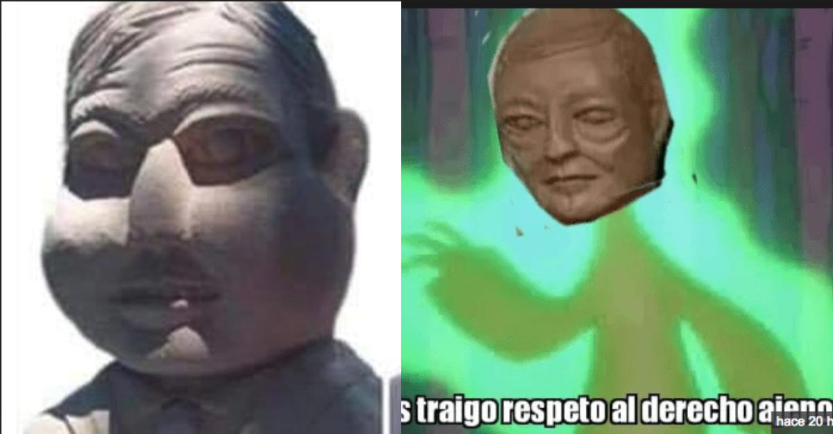 Origen escultor de benito alien y amlo paperas