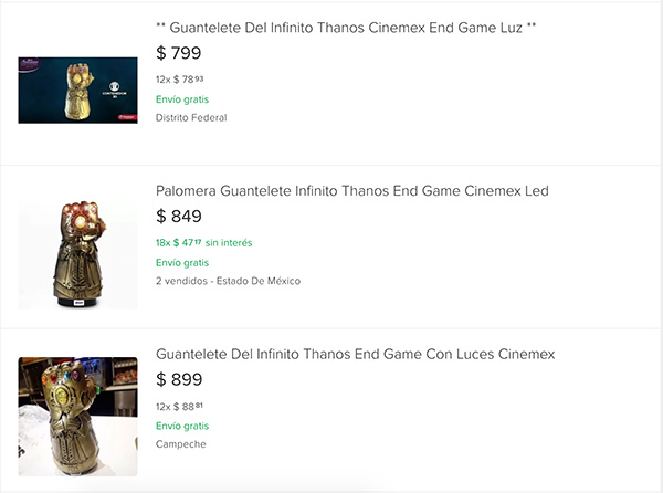 Revenden palomeras de Avengers: Endgame en más de mil pesos