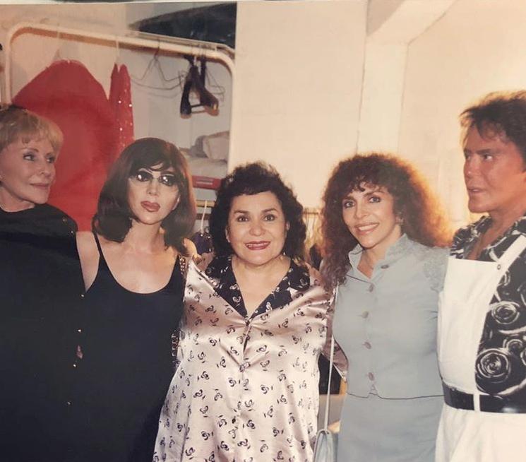 Carmen Salinas publica foto de Verónica Castro como edecán de Chabelo