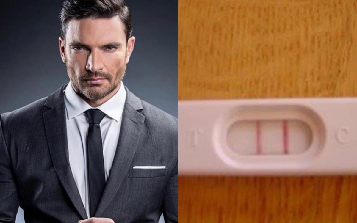 Julián Gil comparte prueba de embarazo en redes