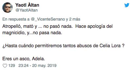 Celia Lora pide que maten a AMLO con Adela Micha
