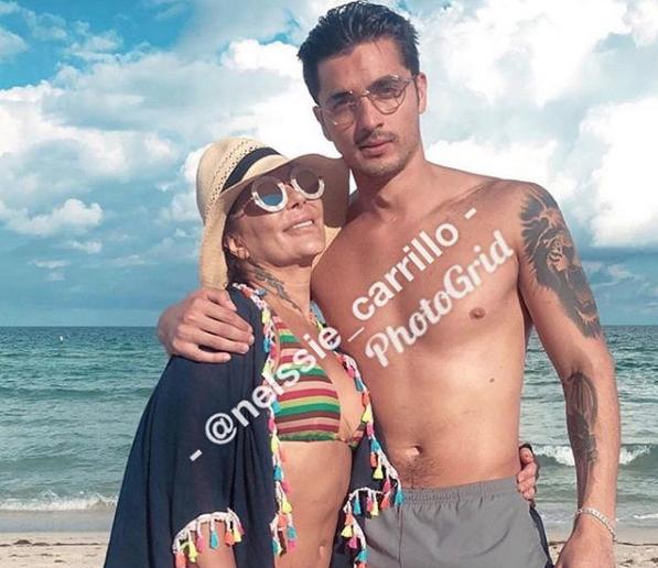 Captan a Alejandra Guzmán y Christian Estrada juntos en la playa