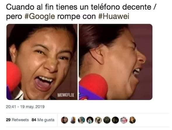 Memes de Huawei y Google